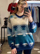 Load image into Gallery viewer, Vintage 90s Yves Saint Laurent Knit Jumper in Blue Beige in L