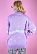 Load image into Gallery viewer, Vintage 90s Knit Jumper Christmas Snowflake Pink in M/L
