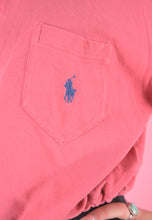 Load image into Gallery viewer, Vintage 90s Reworked Ralph Lauren Crop Top Polo Shirt Pink in M