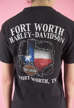 Load image into Gallery viewer, Vintage Harley-Davidson T-Shirt in Black with Texas Skull Print in S