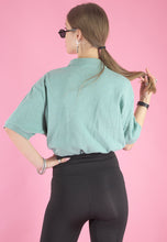Load image into Gallery viewer, Vintage Reworked Ralph Lauren Crop Top Polo in Mint Green in M