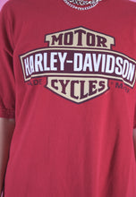 Load image into Gallery viewer, Vintage Harley-Davidson T-Shirt in Red with Graphic Print in L