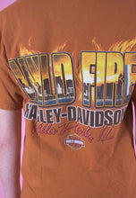 Load image into Gallery viewer, Vintage Harley-Davidson T-Shirt in Orange with Graphic Print in M
