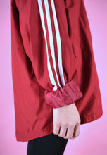 Load image into Gallery viewer, Vintage 90s Adidas Track Jacket Red With White Stripes in M/L