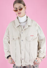 Load image into Gallery viewer, Vintage Denim Jacket in Beige with Classic Cut in M/L