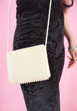 Load image into Gallery viewer, Vintage Inspired Bag Cross Body with Pearls in Cream White