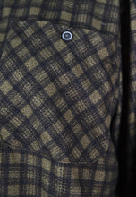 Load image into Gallery viewer, Vintage 90s Flannel Shirt Check Dark Green Grey in M