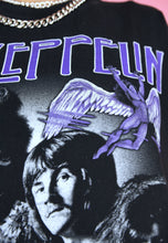 Load image into Gallery viewer, Vintage Led Zeppelin Band T-Shirt Purple Graphics in S/M