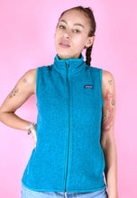 Load image into Gallery viewer, Vintage 90s Patagonia Fleece Sleeveless Blue Full Zip in S