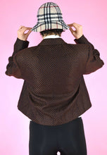 Load image into Gallery viewer, Vintage 90s Blazer Brown Diagonal Stripes With Three Buttons in M
