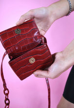 Load image into Gallery viewer, Vintage Inspired 90s Mini Bag Cross Body Faux Leather Red