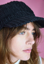 Load image into Gallery viewer, Vintage Inspired Newsboy Cap Corduroy Black