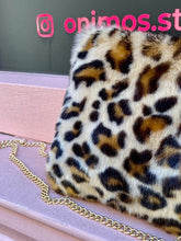 Load image into Gallery viewer, Vintage Inspired Bag Cross Body in Faux Fur in Leopard Print