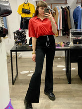Load image into Gallery viewer, Vintage Reworked Ralph Lauren Crop Top Polo Shirt in Red in M/L