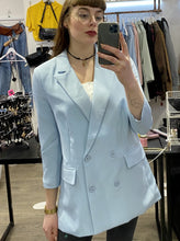 Load image into Gallery viewer, Vintage Inspired Blazer in Light Blue with 3/4 Sleeve in M
