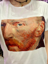 Load image into Gallery viewer, Vintage Inspired T-Shirt in White with Van Gogh Self Portrait Print in M