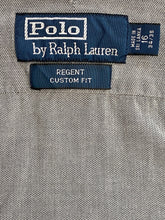 Load image into Gallery viewer, Vintage Reworked Ralph Lauren Crop Top Shirt in Grey in S