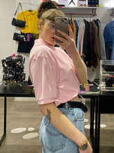 Load image into Gallery viewer, Vintage Reworked Ralph Lauren Crop Top Polo Shirt in Pink in S/M
