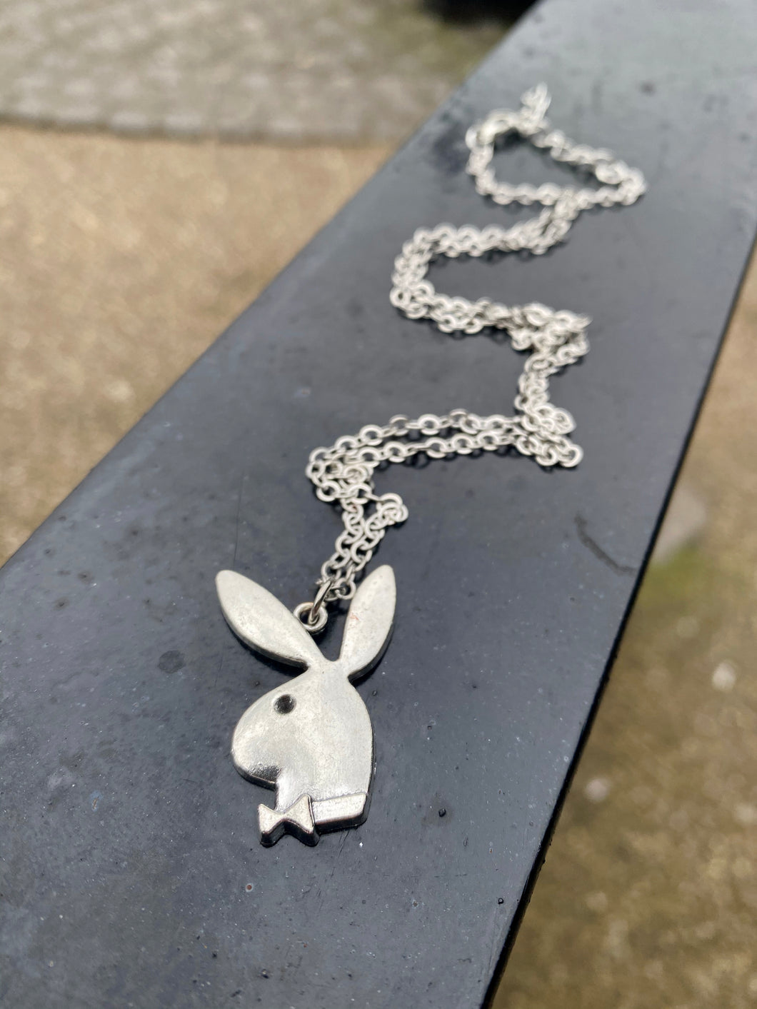 Vintage Inspired Bunny Necklace in Silver Colour