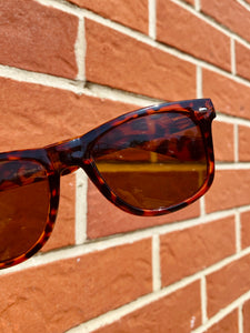 Vintage Inspired Sunglasses in Square Shape with Brown Frame and UV400