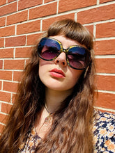 Load image into Gallery viewer, Vintage Inspired Sunglasses in Big Square Shape in Black Yellow with UV400