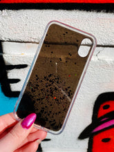 Load image into Gallery viewer, ONIMOS iPhone Case in Black Transparent with Sparkling Glitter