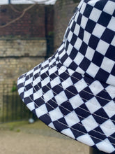Load image into Gallery viewer, Vintage 90s Inspired Bucket Hat in Checked Black and White