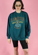 Load image into Gallery viewer, Vintage 90s Sweatshirt Jumper Green Limited Sports USA Print in L