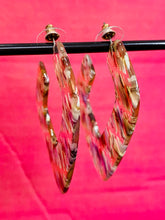 Load image into Gallery viewer, Vintage Inspired Earrings in Square Shape in Transparent with Multicolour Details