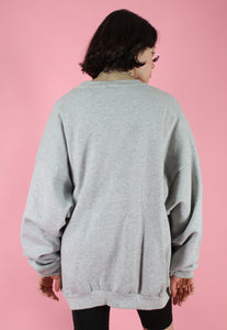 Vintage 90s Sweatshirt Jumper in Grey with White Sox Print in L