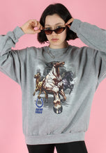 Load image into Gallery viewer, Vintage 90s Sweatshirt Jumper in Grey with Horse Print in L