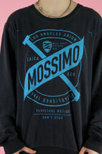 Load image into Gallery viewer, Vintage Sweatshirt Jumper in Dark Grey with Mossimo Print in L