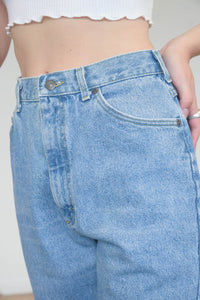 Vintage 90s Mom Jeans Denim in Blue Wash in S/M