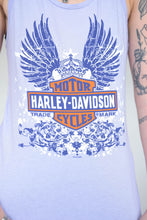 Load image into Gallery viewer, Vintage 00s Harley-Davidson Tank Top in Purple with Print in S