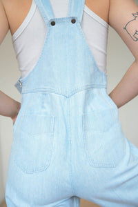 Vintage 90s Dungarees in Light Blue Wash in S
