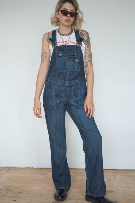 Vintage 90s Dungarees Denim in Dark Blue Wash in S
