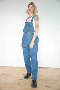 Vintage 90s Dungarees Denim in Dark Blue Wash in M