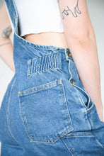 Load image into Gallery viewer, Vintage 90s Dungarees Denim in Dark Blue Wash in M