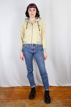 Load image into Gallery viewer, Vintage Zip Hoodie in Yellow in Size XS/S