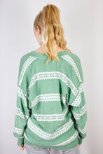 Load image into Gallery viewer, Vintage Knit Cardigan in Green in Size L