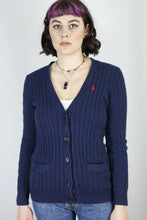Load image into Gallery viewer, Vintage Ralph Lauren Cardigan in Blue in Size S