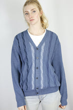 Load image into Gallery viewer, Vintage Knit Cardigan in Blue in Size M/L