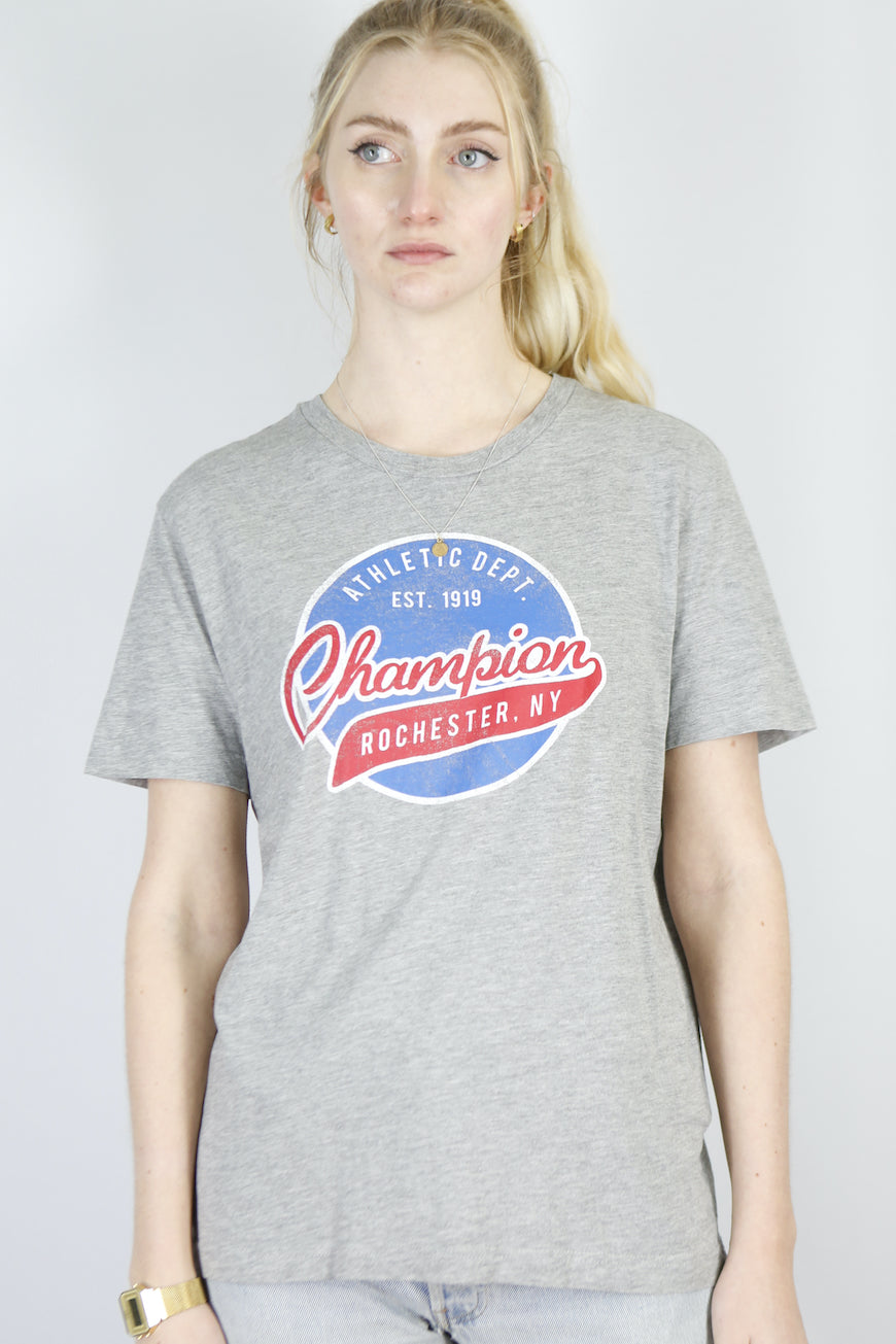 Vintage Champion T-Shirt in Grey in Size S