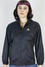 Load image into Gallery viewer, Vintage Adidas Shell Jacket Windbreaker in Black in Size XS