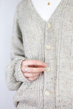 Load image into Gallery viewer, Vintage Knit Cardigan in Beige in Size M/L