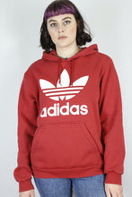 Load image into Gallery viewer, Vintage Adidas Sweatshirt Hoodie in Red in Size M