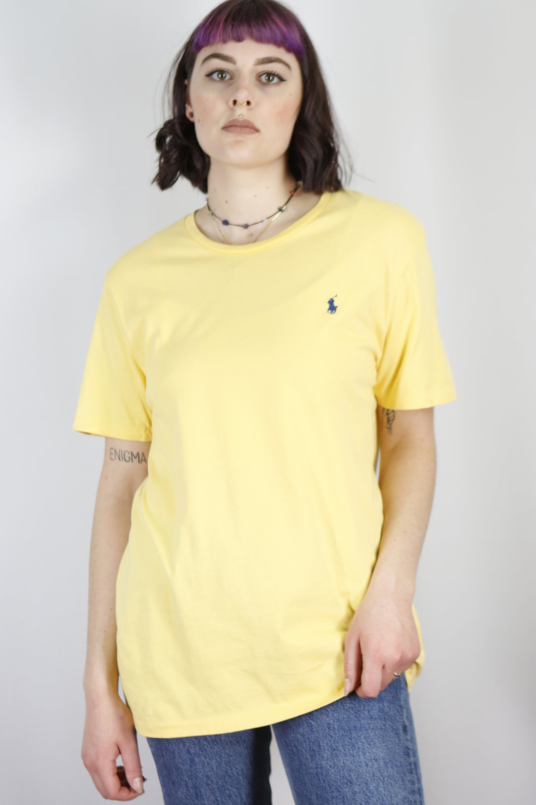 Vintage Ralph Lauren T-Shirt in Yellow in Size M