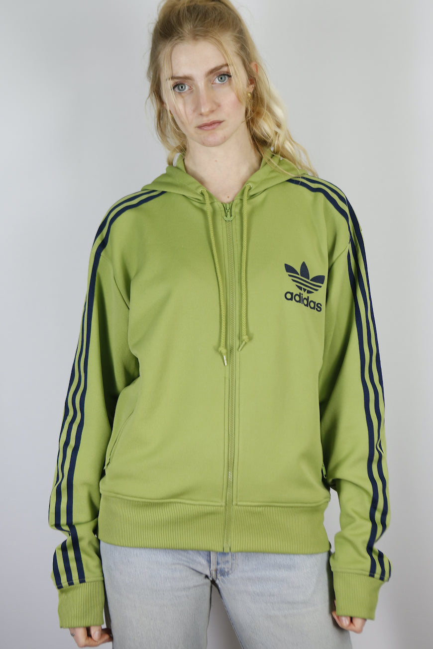 Vintage Adidas Full Zip Track Jacket in Green in Size M