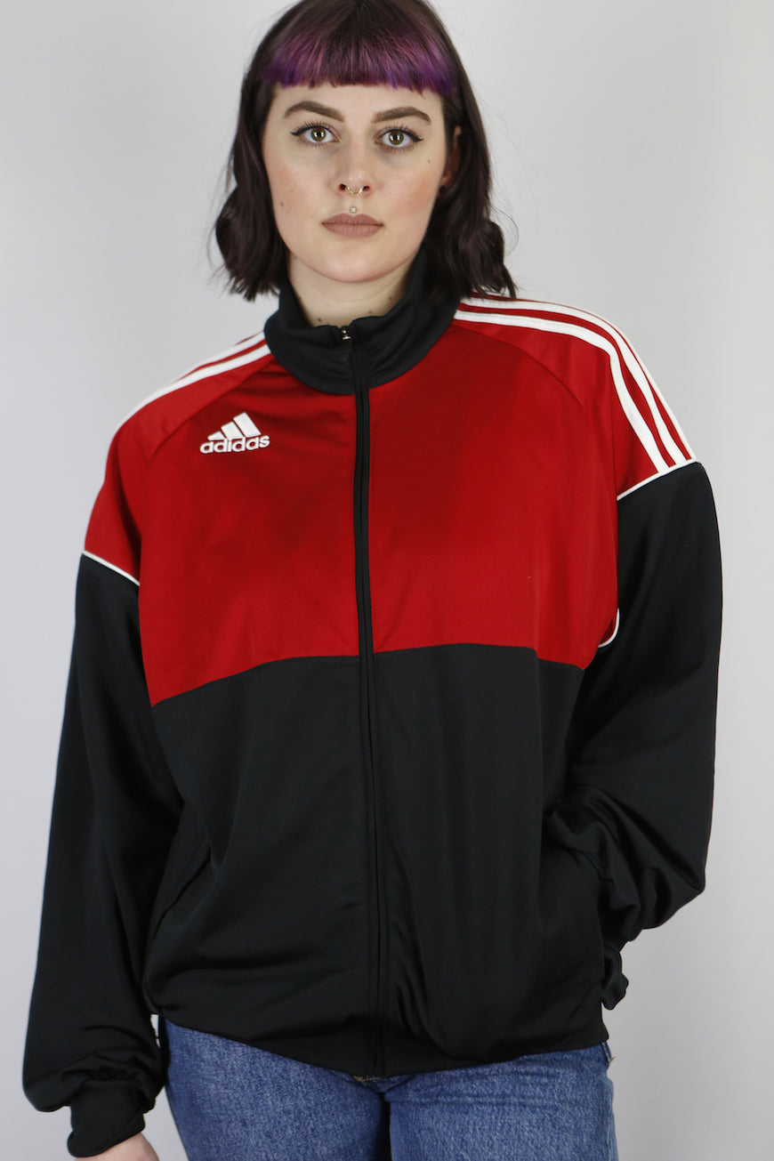 Vintage Adidas Track Jacket in Black in Size M