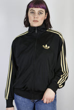 Load image into Gallery viewer, Vintage Adidas Track Jacket in Black in Size M
